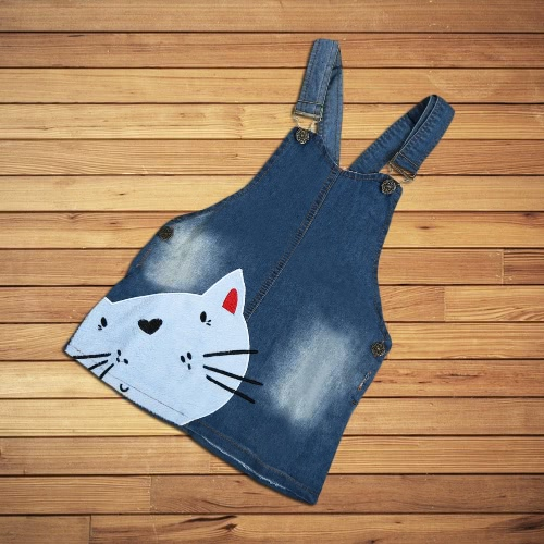Summer Cute Baby Girls Kids Toddler Denim Overall Dress Cat Pattern Princess Dress Skirt BlueApparel &amp; Jewelry<br>Summer Cute Baby Girls Kids Toddler Denim Overall Dress Cat Pattern Princess Dress Skirt Blue<br>