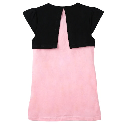 New Cute Girls Dress Bow Splicing Round Neck Short Sleeves Sweet Mini One-PieceApparel &amp; Jewelry<br>New Cute Girls Dress Bow Splicing Round Neck Short Sleeves Sweet Mini One-Piece<br>