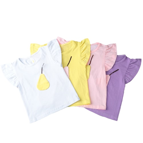 Fashion Summer Casual Girls T-Shirt Fruit Decoration O-Neck Short Sleeve Keyhole Back Cute Tees TopApparel &amp; Jewelry<br>Fashion Summer Casual Girls T-Shirt Fruit Decoration O-Neck Short Sleeve Keyhole Back Cute Tees Top<br>