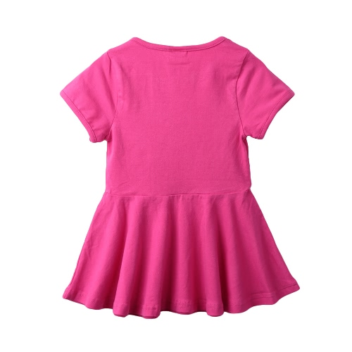 New Cute Girls Mini Dress Solid Color Flared Shape Round Neck Short Sleeve Casual One-PieceApparel &amp; Jewelry<br>New Cute Girls Mini Dress Solid Color Flared Shape Round Neck Short Sleeve Casual One-Piece<br>