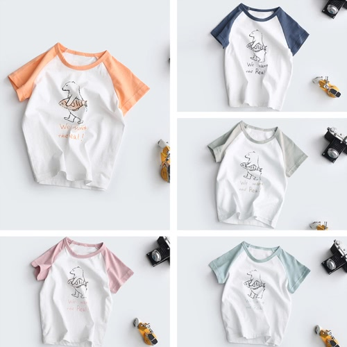New Fashion Boys Girls T-shirt Contrast Motif Print Raglan Sleeve Cute Round Neck Regular Casual TeeApparel &amp; Jewelry<br>New Fashion Boys Girls T-shirt Contrast Motif Print Raglan Sleeve Cute Round Neck Regular Casual Tee<br>