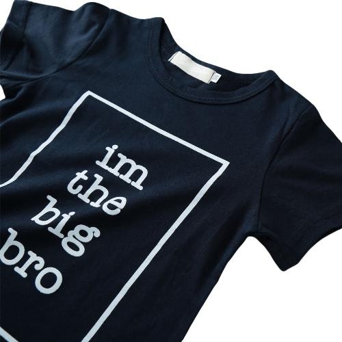 New Boys Kids T-shirt Top Letter Print O-Neck Short Sleeve Pullover Cute Casual Children Shirt Dark BlueApparel &amp; Jewelry<br>New Boys Kids T-shirt Top Letter Print O-Neck Short Sleeve Pullover Cute Casual Children Shirt Dark Blue<br>