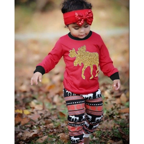 Kids Boys Girls Christmas Family Look Pajamas Reindeer Family Matching Outfit Father Mother Kids Baby T-shirt Pants Set RedApparel &amp; Jewelry<br>Kids Boys Girls Christmas Family Look Pajamas Reindeer Family Matching Outfit Father Mother Kids Baby T-shirt Pants Set Red<br>