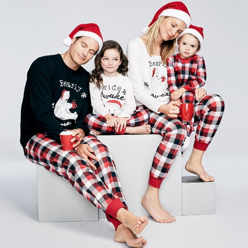 Christmas Family Kids Boy Girls Pajamas Sets Bear Letter Printed Long Sleeve Top Plaid Trousers Sleepwear Nightwear WhiteApparel &amp; Jewelry<br>Christmas Family Kids Boy Girls Pajamas Sets Bear Letter Printed Long Sleeve Top Plaid Trousers Sleepwear Nightwear White<br>