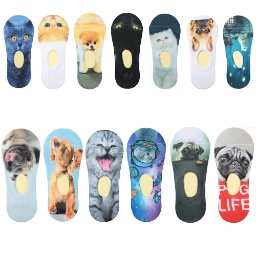 New Women Casual Socks Cute Animal Print Low Cut Breathable No-Show Liner Non-Slip SocksApparel &amp; Jewelry<br>New Women Casual Socks Cute Animal Print Low Cut Breathable No-Show Liner Non-Slip Socks<br>