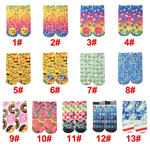 New Fashion Women Socks Cute Print Low Cut Ankle Breathable Stretchy Casual SocksApparel &amp; Jewelry<br>New Fashion Women Socks Cute Print Low Cut Ankle Breathable Stretchy Casual Socks<br>