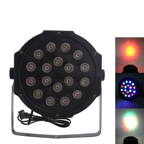 30W 18-RGB LEDオート/ボイスコントロールDMX512高輝度ミニステージランプ(AC 110-240V)