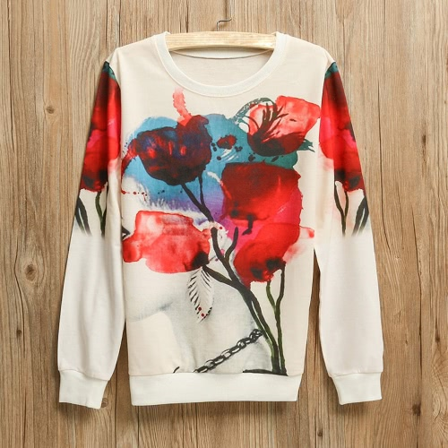New Women Girl Sweatshirt Print O-Neck Long Sleeve Pullover Top Casual Loose Sports Hoodie SweaterApparel &amp; Jewelry<br>New Women Girl Sweatshirt Print O-Neck Long Sleeve Pullover Top Casual Loose Sports Hoodie Sweater<br>