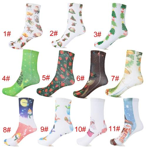 Fashion Women Christmas Socks Santa Claus Snowman Gift Casual Festive Printed Cotton Socks HosieryApparel &amp; Jewelry<br>Fashion Women Christmas Socks Santa Claus Snowman Gift Casual Festive Printed Cotton Socks Hosiery<br>
