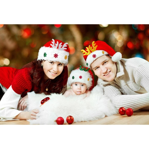 Adult Kids Christmas Hat Santa Claus Hat Antler Snowflake Family Party Cap Holiday Decoration OrnamentsApparel &amp; Jewelry<br>Adult Kids Christmas Hat Santa Claus Hat Antler Snowflake Family Party Cap Holiday Decoration Ornaments<br>