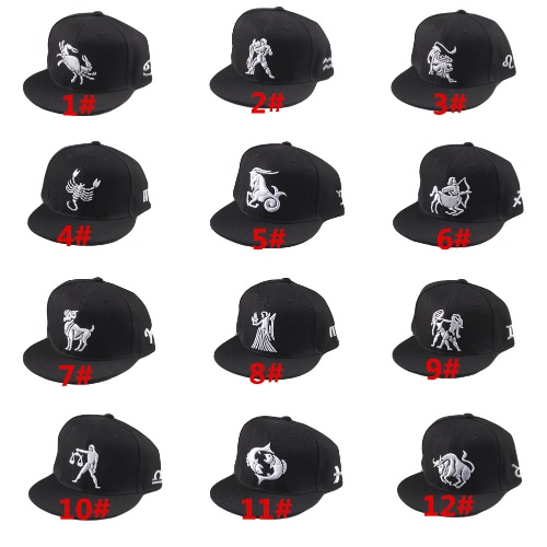 New Fashion Men Women Cap Pattern Embroidery Eyes Snap Back Flat Hat Baseball Hip-Pop Cap BlackApparel &amp; Jewelry<br>New Fashion Men Women Cap Pattern Embroidery Eyes Snap Back Flat Hat Baseball Hip-Pop Cap Black<br>