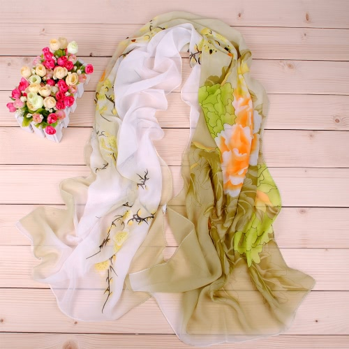 Women Chiffon Scarf Shawl Bird Floral Print Vintage Soft Scarf Long Scarves Thin PashminaApparel &amp; Jewelry<br>Women Chiffon Scarf Shawl Bird Floral Print Vintage Soft Scarf Long Scarves Thin Pashmina<br>