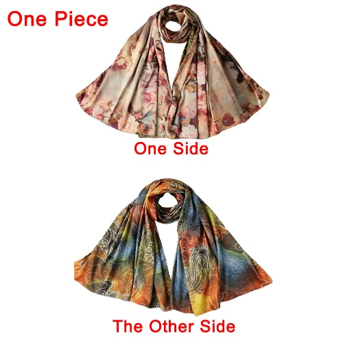 New Fashion Women Silk Scarf Floral Print Long Shawl Vintage Soft Pashmina Girl CapeApparel &amp; Jewelry<br>New Fashion Women Silk Scarf Floral Print Long Shawl Vintage Soft Pashmina Girl Cape<br>
