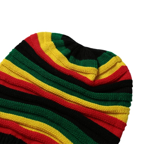 New Women Men Knitted Beanie Hat Contrast Stripe Splice Ribbed Brim Warm Dance Cap HeadwearApparel &amp; Jewelry<br>New Women Men Knitted Beanie Hat Contrast Stripe Splice Ribbed Brim Warm Dance Cap Headwear<br>