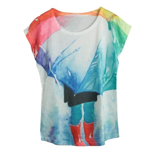 New Women T-Shirt Special Print O-Neck Short Sleeves Pullover Loose Casual Tee Fashion TopApparel &amp; Jewelry<br>New Women T-Shirt Special Print O-Neck Short Sleeves Pullover Loose Casual Tee Fashion Top<br>