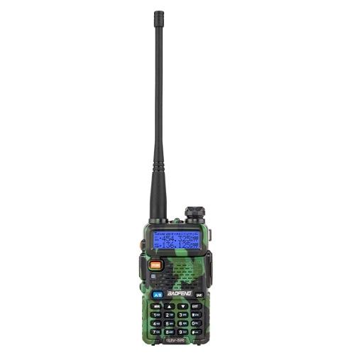 "BAOFENG 1.5 ""LCD 5W 136 ~ 174MHz / 400 ~ 520MHz ثنائي النطاق يتحملها مع 1-LED مصباح يدوي التمويه اللون"