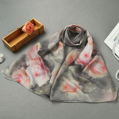 New Women Romantic Chiffon Scarf Floral Print Long Thin Scarves Shawl PashminaApparel &amp; Jewelry<br>New Women Romantic Chiffon Scarf Floral Print Long Thin Scarves Shawl Pashmina<br>