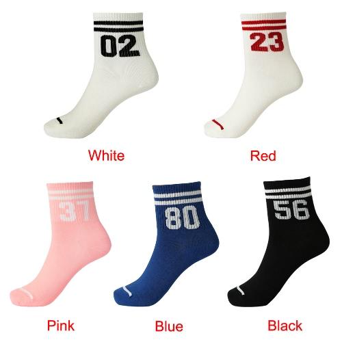 New Women Girl Socks Letter Stripes Print Breathable Stretchy Casual Sport Long SocksApparel &amp; Jewelry<br>New Women Girl Socks Letter Stripes Print Breathable Stretchy Casual Sport Long Socks<br>