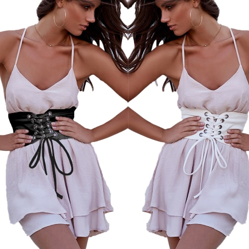 New Fashion Women Vintage Waist Belt Self-tie Hook Waistband Waist Strap White/BlackApparel &amp; Jewelry<br>New Fashion Women Vintage Waist Belt Self-tie Hook Waistband Waist Strap White/Black<br>