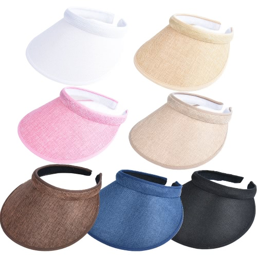 Unisex Women Men Summer Sun Visors Cap Broad Wide Brim Topless Tennis Golf Headband Hat HeadwearApparel &amp; Jewelry<br>Unisex Women Men Summer Sun Visors Cap Broad Wide Brim Topless Tennis Golf Headband Hat Headwear<br>