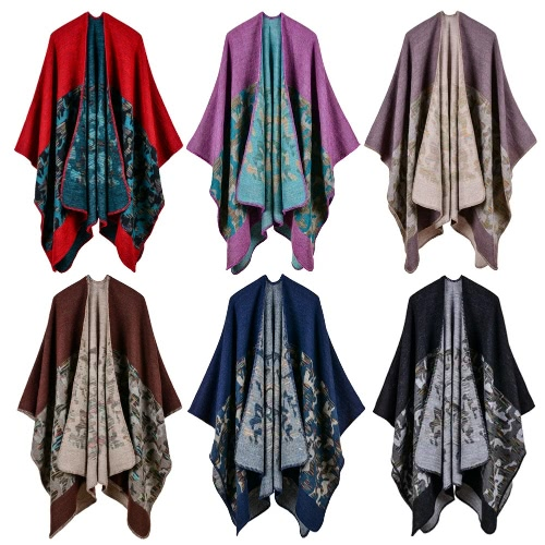 Fashion Women Poncho Cardigan Sweater Camouflage Faux Cashmere Capes Shawl Scarf Loose Outerwear CoatApparel &amp; Jewelry<br>Fashion Women Poncho Cardigan Sweater Camouflage Faux Cashmere Capes Shawl Scarf Loose Outerwear Coat<br>