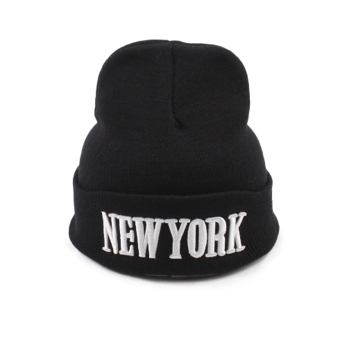 Men Women Unisex New York Knitted Warm Hiphop Beanie Skullies Embroidery Casual Cap Hat BlackApparel &amp; Jewelry<br>Men Women Unisex New York Knitted Warm Hiphop Beanie Skullies Embroidery Casual Cap Hat Black<br>
