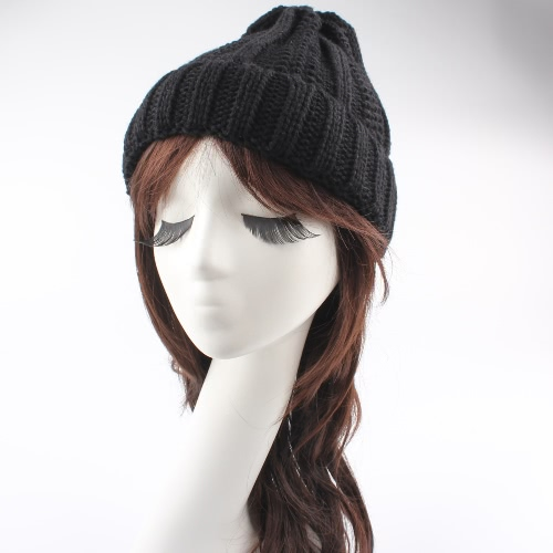 Winter Warm Hat Unisex Women Men Knitted Beanie Solid Color Ribbed Knit CapApparel &amp; Jewelry<br>Winter Warm Hat Unisex Women Men Knitted Beanie Solid Color Ribbed Knit Cap<br>