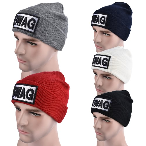 Unisex Men Women Beanies Knitted Hat SWAG Letter Skullies Baggy Hip Pop Winter Bonnet CapsApparel &amp; Jewelry<br>Unisex Men Women Beanies Knitted Hat SWAG Letter Skullies Baggy Hip Pop Winter Bonnet Caps<br>