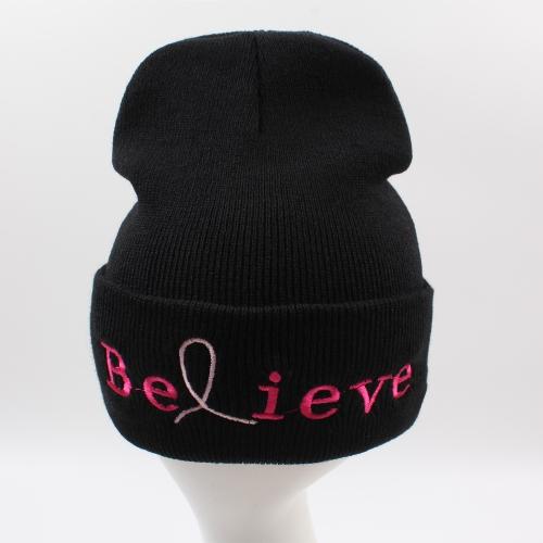 Unisex Men Women Beanies Knitted Hat Believe Letter Skullies Baggy Hip Pop Winter Bonnet Caps BlackApparel &amp; Jewelry<br>Unisex Men Women Beanies Knitted Hat Believe Letter Skullies Baggy Hip Pop Winter Bonnet Caps Black<br>