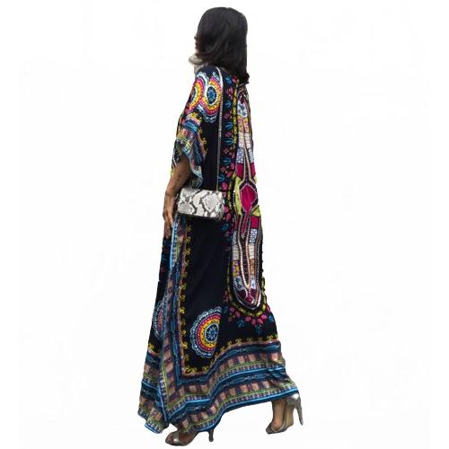 Ethnic Women Cover Up Plus Size Printed V Neck Maxi Boho Hipppie Dashiki Bikini Beach Kaftan DressApparel &amp; Jewelry<br>Ethnic Women Cover Up Plus Size Printed V Neck Maxi Boho Hipppie Dashiki Bikini Beach Kaftan Dress<br>