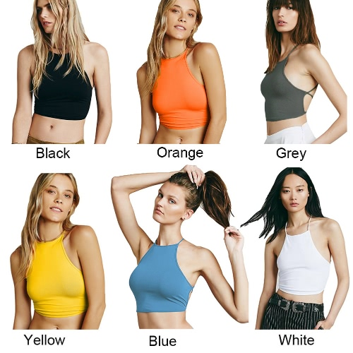New Europe Women Sexy Vest Backless Lace Up Halter Crop Top Tank Top Cami Bra Bustier Bralette LingerieApparel &amp; Jewelry<br>New Europe Women Sexy Vest Backless Lace Up Halter Crop Top Tank Top Cami Bra Bustier Bralette Lingerie<br>