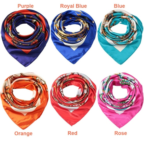 Women Square Scarf Sheen Satin Carriage Print Wraparound Scarf Scarves Thin Pashmina Oversize KerchiefApparel &amp; Jewelry<br>Women Square Scarf Sheen Satin Carriage Print Wraparound Scarf Scarves Thin Pashmina Oversize Kerchief<br>