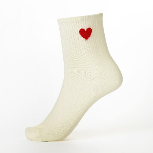 New Women Girl Socks Solid Heart-Shaped Print Breathable Stretchy Casual Sport Long SocksApparel &amp; Jewelry<br>New Women Girl Socks Solid Heart-Shaped Print Breathable Stretchy Casual Sport Long Socks<br>