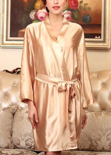 Women Silk Satin Night Robe Bathrobe Short Kimono Dressing Gown Nightgown SleepwearApparel &amp; Jewelry<br>Women Silk Satin Night Robe Bathrobe Short Kimono Dressing Gown Nightgown Sleepwear<br>