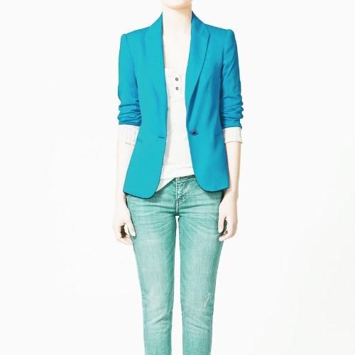 2012 Stylish Women Blazer Jacket Coat Tunic Casual Suit Foldable SleeveApparel &amp; Jewelry<br>2012 Stylish Women Blazer Jacket Coat Tunic Casual Suit Foldable Sleeve<br>