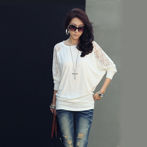 Womens Blouse Batwing Sleeve Loose Tops T-shirtApparel &amp; Jewelry<br>Womens Blouse Batwing Sleeve Loose Tops T-shirt<br>