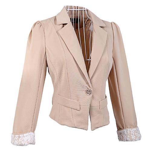 Women Lace Cuffs Suit CoatApparel &amp; Jewelry<br>Women Lace Cuffs Suit Coat<br>