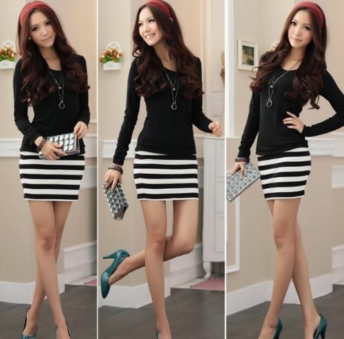 Womens Mini Dress Stripe Long SleeveApparel &amp; Jewelry<br>Womens Mini Dress Stripe Long Sleeve<br>