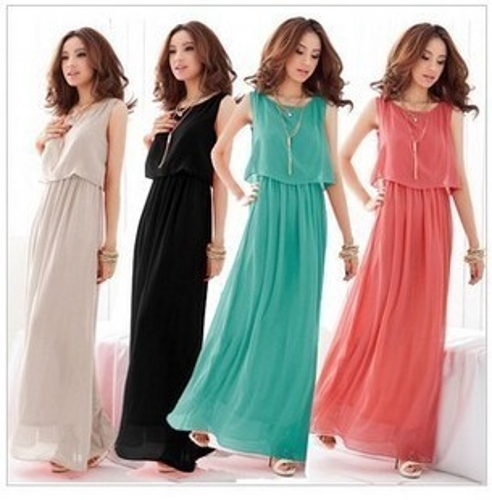 Women Lady Bohemian Boho Maxi Dress Chiffon Long Beach Pleated SundressApparel &amp; Jewelry<br>Women Lady Bohemian Boho Maxi Dress Chiffon Long Beach Pleated Sundress<br>