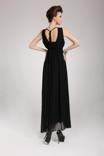 2013 New Summer Bohemian Beach Womens Dress Chiffon Split Halter Backless Long Maxi Dress Party Evening BlackApparel &amp; Jewelry<br>2013 New Summer Bohemian Beach Womens Dress Chiffon Split Halter Backless Long Maxi Dress Party Evening Black<br>