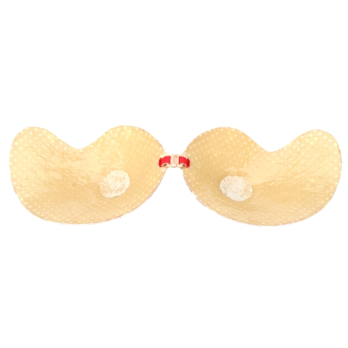 Sexy Magic Strapless Mango-shape Bra Push-up Lift Front-closure Silicone Bust Self-adhesive Backless Invisible Red with White DotApparel &amp; Jewelry<br>Sexy Magic Strapless Mango-shape Bra Push-up Lift Front-closure Silicone Bust Self-adhesive Backless Invisible Red with White Dot<br>