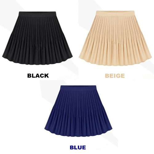 Fashion Summer Women Chiffon Skirt Short Pleated High Waist Mini Skirt Vintage BlueApparel &amp; Jewelry<br>Fashion Summer Women Chiffon Skirt Short Pleated High Waist Mini Skirt Vintage Blue<br>
