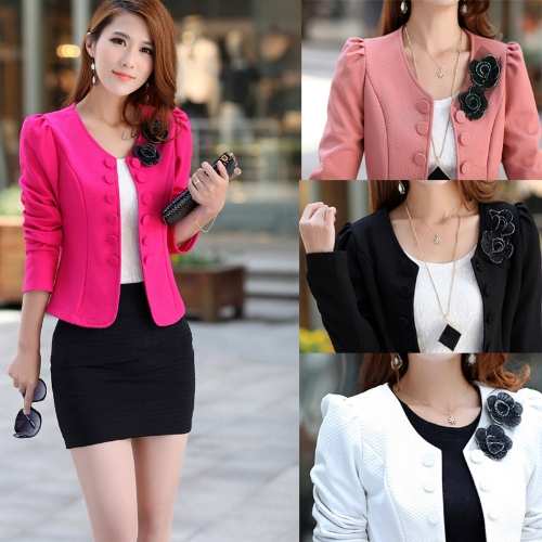 Fashion OL Lady Women Blazer Double Breasted Puff Sleeve Jacket Bow Tie Back Coat PinkApparel &amp; Jewelry<br>Fashion OL Lady Women Blazer Double Breasted Puff Sleeve Jacket Bow Tie Back Coat Pink<br>