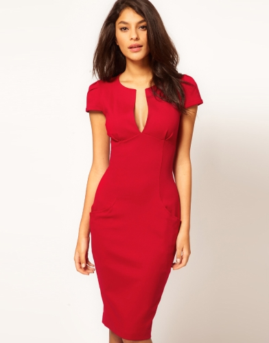 Sexy Fashion Women Pencil Dress Plunge V-Neck Pocket Slim Bodycon Midi Dress OL Work Party RedApparel &amp; Jewelry<br>Sexy Fashion Women Pencil Dress Plunge V-Neck Pocket Slim Bodycon Midi Dress OL Work Party Red<br>