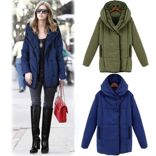 Fashion Women Trench Coat Winter Hooded Parka Loose Overcoat Long Jackets Army GreenApparel &amp; Jewelry<br>Fashion Women Trench Coat Winter Hooded Parka Loose Overcoat Long Jackets Army Green<br>
