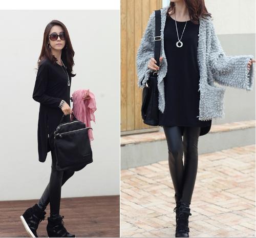 Casual Women Loose T-Shirt Long Sleeve Zipper Detail Slouchy Pullover Long Tops Shirt BlackApparel &amp; Jewelry<br>Casual Women Loose T-Shirt Long Sleeve Zipper Detail Slouchy Pullover Long Tops Shirt Black<br>