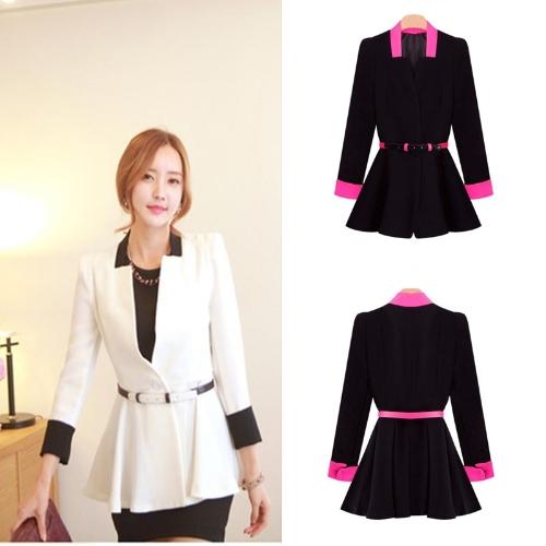 New Korean OL Women Pleated Blazer Deep V-Neck Slim Jacket Button Coat WhiteApparel &amp; Jewelry<br>New Korean OL Women Pleated Blazer Deep V-Neck Slim Jacket Button Coat White<br>
