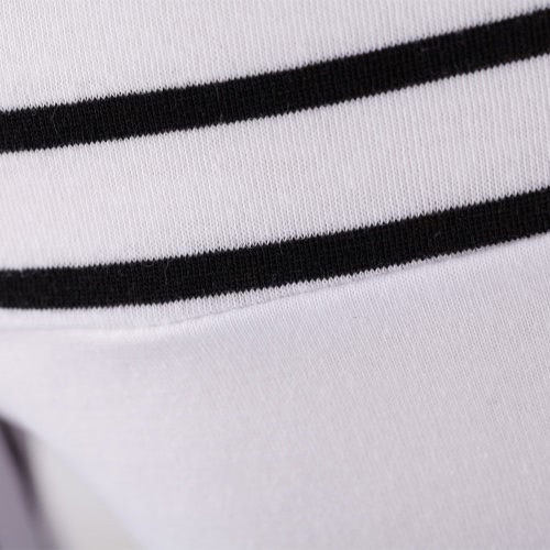 Korean Fashion Women Lady Slim T-Shirt Puff Long Sleeve Polo Neck Stripe Tops WhiteApparel &amp; Jewelry<br>Korean Fashion Women Lady Slim T-Shirt Puff Long Sleeve Polo Neck Stripe Tops White<br>