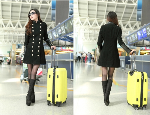 Fashion Women Trench Coat Stand Collar PU Leather Patchwork Double Breasted Long Outerwear BlackApparel &amp; Jewelry<br>Fashion Women Trench Coat Stand Collar PU Leather Patchwork Double Breasted Long Outerwear Black<br>