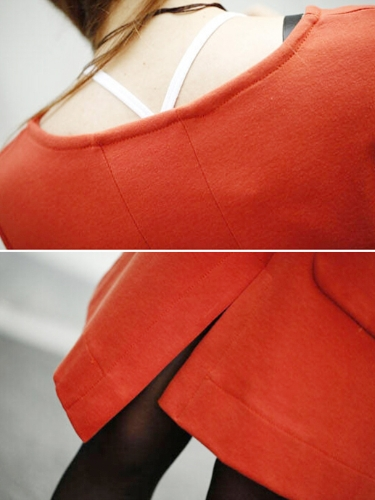 New Fashion Women Dress Patchwork Pocket Split Front Irregular Hem Crew Neck Long Sleeve Loose DressApparel &amp; Jewelry<br>New Fashion Women Dress Patchwork Pocket Split Front Irregular Hem Crew Neck Long Sleeve Loose Dress<br>